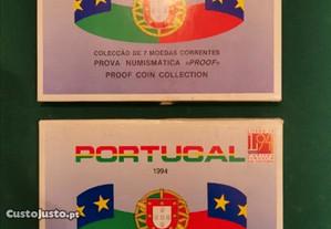 Coleção de catorze moedas correntes 1993/94