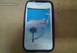 Capa em Silicone Gel Samsung Young 2 (G-130) Preta