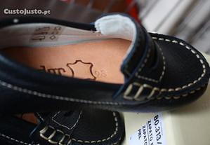 Sapatos NOVOS nautico em pele azuis da CÓNDOR T.23