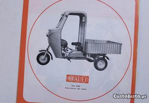 Folheto Motalli TR tricarros triciclos antigo 50cc