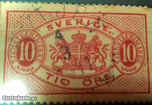 Selos Antigos Suécia Filatelia 1858-1964