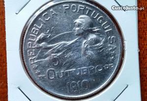 1 Escudo em Prata 5 Outubro 1910