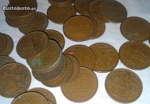 Lote de 37 moedas de 50 centavos