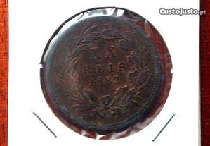 XX Reis D. Luís I de 1882