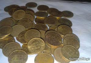 Lote de 57 moedas de 1 escudo