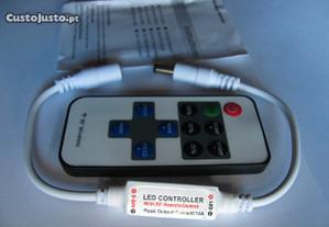 Controlo remoto+mini Dimmer para fita led 12V
