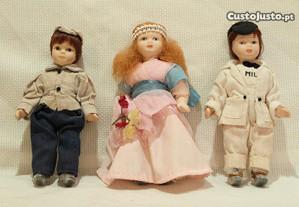 Colecção de 3 Bonecos em Porcelana Antigos anos 40