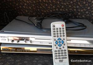DVD a funcionar, c/comando, ou para peças!