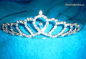 tiara strass prata de noiva ou cerimonia