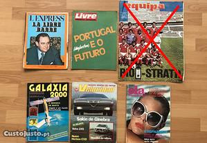 Revistas vintage retro anos 70 e 80