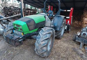 Tractor e rachador lenha