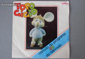 Disco vinil single infantil - Topo Gigio