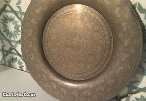prato decorativo em cobre