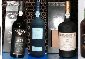 7 garrafas de vinho do porto antigas - 140 anos