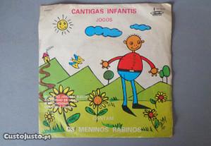 Disco vinil single infantil - Cantigas Infantis -