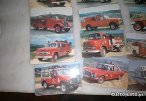 Conjunto de 25 Fotos Antigas Bombeiros Voluntários