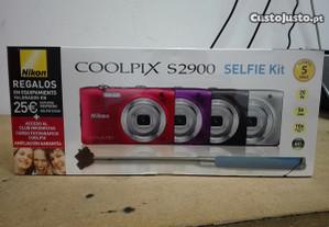 Nikon Coolpix S2900 + Estojo + Selfie Stick - Nova