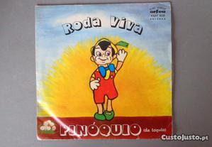 Disco vinil single infantil - Roda Viva - Pinóquio