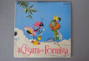 Disco vinil single infantil - A Cigarra e a Formig