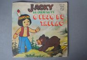 Disco vinil single infantil - Jacky, o urso