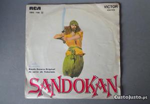 Disco vinil single infantil - Sandokan