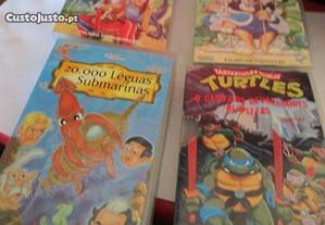 4 cassetes VHS de desenhos animados