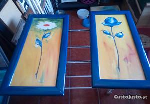 Conjunto de 2 Quadros Flores