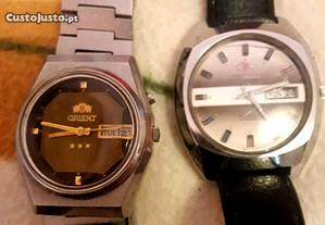 2 Relógios Orient automaticos bom estado,aproveita