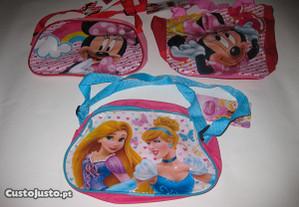 3 sacolas para criança/Minnie/Princesas/Novo!