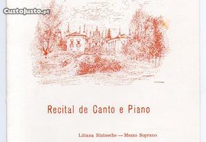 Casa de Mateus - programa de recital (1981)