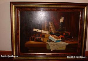 Quadro a óleo original do pintor Teixeira Cardoso