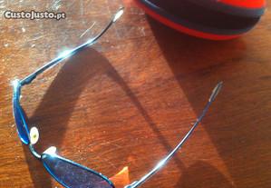 óculos Arnette azul franceses originais impecáveis