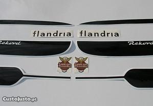 Flandria Rekord vintage 50 stickers autocolantes