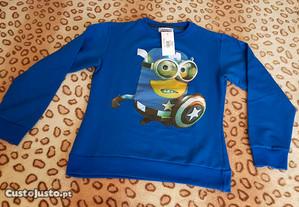 Camisola azul minions - homem / mulher - nova