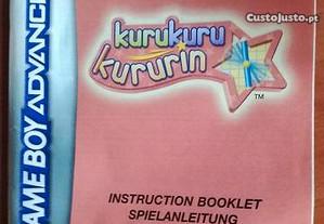 Manual Kurukuru Kururin GBA Game Boy Advance