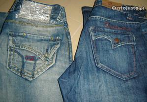 dois pares de calças nº 36
