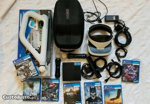 Pacote PS4 Vr REALIDADE Virtual+ jogos VR