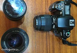 Máquina fotográfica Nikon F60 + 2 lentes + grande
