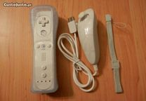Comando NOVO Branco Wii+Nunchuk+Capa+Fita