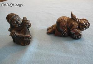 2 Esculturas em Peltro Argentato 999 (Vintage)