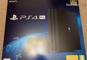 PS4 Pro preta 1TB com 9 Jogos