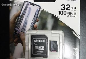 Cartão de memória 32GB Kingston com adaptador