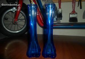 solitarios em vidro azul novos preço negociavel