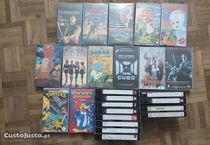 Lote de 25 Cassetes VHS (originais e gravadas)