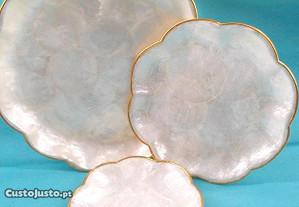 Prato de madrepérola flor 19cm
