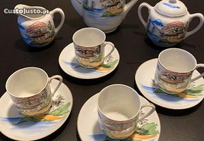 Serviço de chá/café em porcelana fina chinesa Ritz