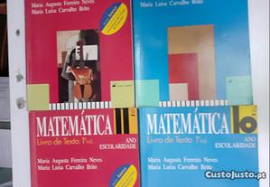Matemática 10º/11º ano, Livros de Texto, Vol1 e Vol 2