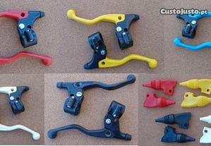 Manetes Plásticas LUSITO BMX antiga cores e foles