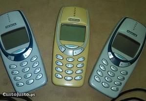 Lote de 3 Nokia 3310 e 3300