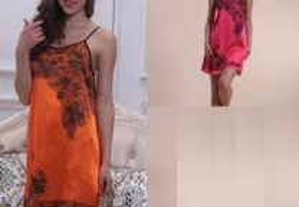 Babydoll vermelho ou laranja Tam. U - NOVO